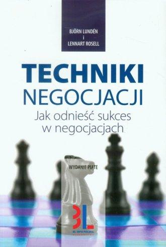 Techniki negocjacji - okładka książki