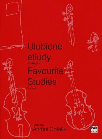 Ulubione etiudy na skrzypce - okładka podręcznika
