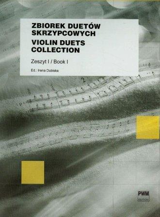 Zbiorek duetów skrzypcowych zeszyt - okładka książki