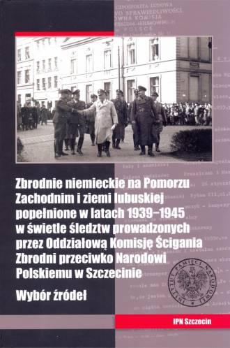 Zbrodnie niemieckie na Pomorzu - okładka książki
