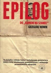 Epilog do Kamieni na szaniec - okładka książki