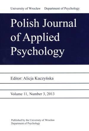 Polish Journal of Applied Psychology - okładka książki