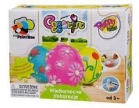 Wielkanocne dekoracje. Puszyste pisanki - zdjęcie zabawki, gry