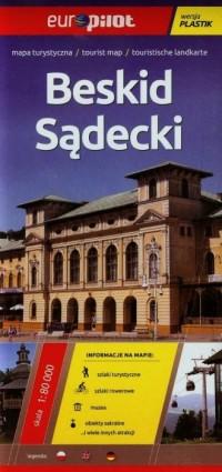 Beskid Sądecki mapa turystyczna (skala 1:80 000) - okładka książki