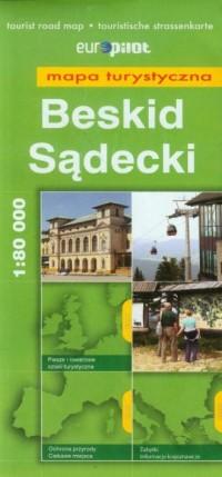 Beskid Sądecki mapa turystyczna - okładka książki