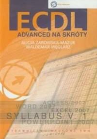 ECDL Advanced na skróty (+ CD) - okładka książki