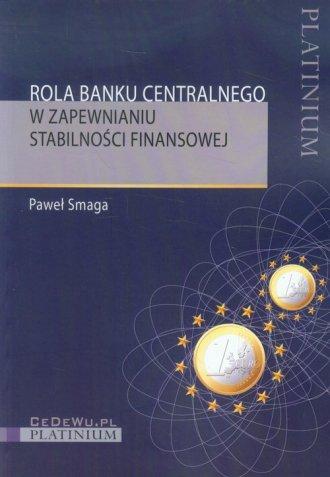 Rola banku centralnego w zapewnianiu - okładka książki