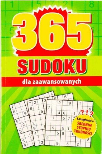 365 Sudoku dla zaawansowanych - okładka książki