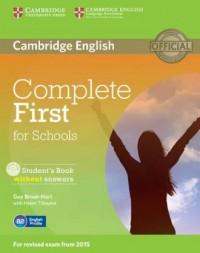 Complete First for Schools. Students - okładka podręcznika