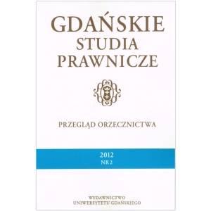 Gdańskie Studia Prawnicze. Przegląd - okładka książki
