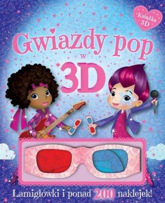 Gwiazdy pop w 3D. Książka z okularami. - okładka książki
