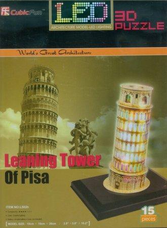 Krzywa wieża w Pizie (puzzle 3D - zdjęcie zabawki, gry