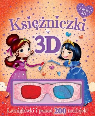 Księżniczki w 3D. Książka z okularami. - okładka książki