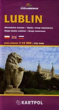 Lublin plan miasta (skala 1:15 000) - okładka książki