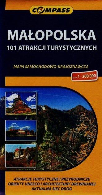 Małopolska 101 atrakcji turystycznych - okładka książki