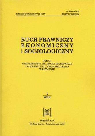 Ruch prawniczy, ekonomiczny i socjologiczny. - okładka książki
