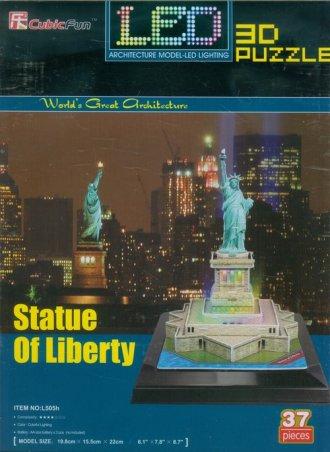 Statua Wolności (puzzle 3D led - zdjęcie zabawki, gry