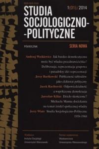Studia Socjologiczno-Polityczne 1(01)/2014 - okładka książki