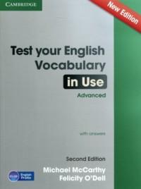 Test Your English Vocabul in Use. Advanced with answers - okładka podręcznika