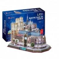 Katedra Notre Dame (puzzle 3D led) - zdjęcie zabawki, gry