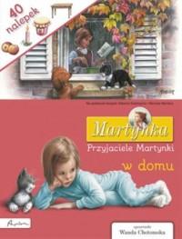Martynka. Przyjaciele Martynki w domu. Książka z nalepkami - okładka książki