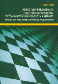 Rotacyjna prezydencja Rady Unii - okładka książki