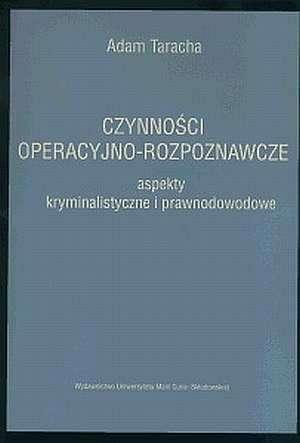 Czynności operacyjno-rozpoznawcze. - okładka książki