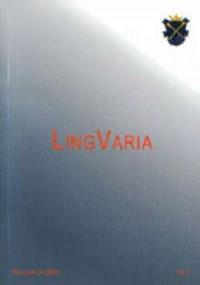 LingVaria nr 1/2006 - okładka książki