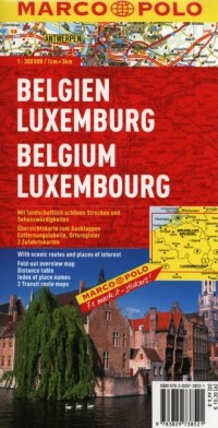Belgia, Luksemburg. Mapa drogowa (skala 1:300 000) - okładka książki