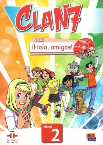 Clan 7 con Hola amigos 2. Język - okładka podręcznika