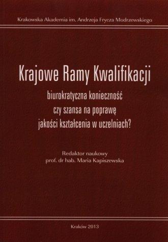 Krajowe Ramy Kwalifikacji biurokratyczna - okładka książki