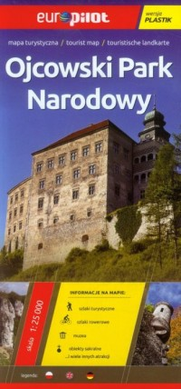 Ojcowski Park Narodowy mapa turystyczna (skala 1:25 000) - okładka książki