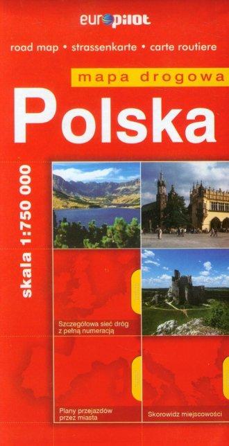 Polska mapa drogowa (skala 1:750 - okładka książki