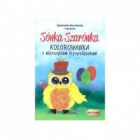 Sówka Szarówka. Kolorowanka z wierszykiem logopedycznym - okładka książki