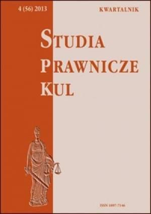 Studia prawnicze KUL, 4(56)/2013 - okładka książki