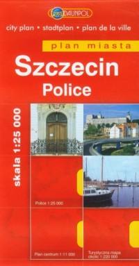 Szczecin, Police plan miasta (skala 1:25 000) - okładka książki