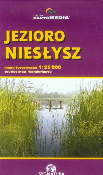 Jezioro Niesłysz mapa turystyczna - okładka książki