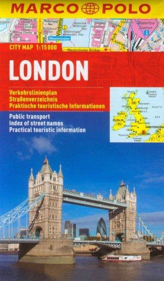 Londyn plan miasta (skala 1:15 - okładka książki