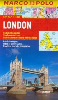 Londyn plan miasta (skala 1:15 000) - okładka książki