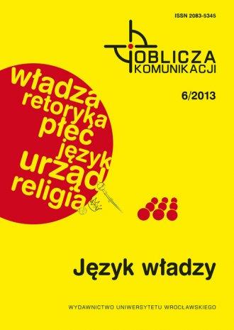 Oblicza komunikacji 6 / 2013. Język - okładka książki