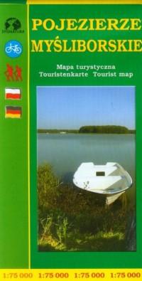 Pojezierze Myśliborskie mapa turystyczna (skala 1:75 000) - okładka książki