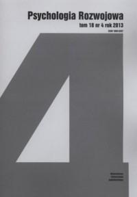Psychologia Rozwojowa. Tom 18 nr 4 / 2013 - okładka książki