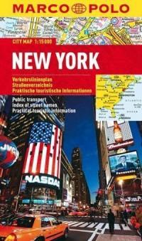 New York. Laminowany plan miasta (skala 1:15 000) - okładka książki