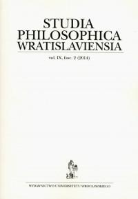 Studia Philosophica Wratislaviensia vol. IX fasc. 2 (2014) - okładka książki