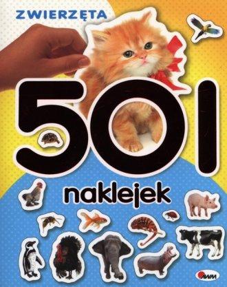 Zwierzęta. 501 naklejek - okładka książki