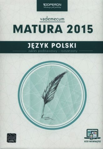 Język polski. Matura 2015. Vademecum. - okładka podręcznika