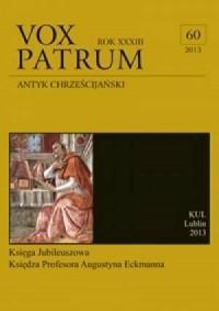 Vox Patrum. Tom 60/2013 - okładka książki