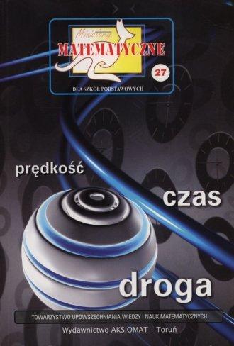 Miniatury matematyczne 27. Prędkość - okładka podręcznika