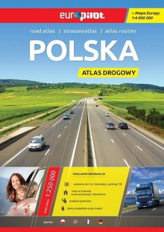 Polska. Atlas drogowy (skala 1:500 - okładka książki