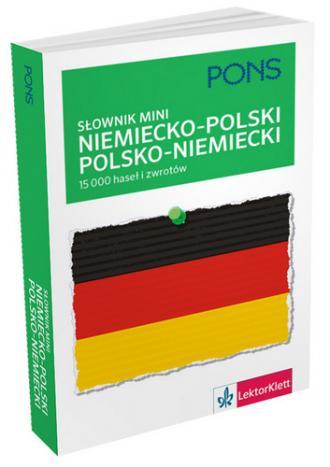 Słownik mini niemiecko-polski, - okładka podręcznika